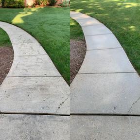 Greensboro concrete pressure washing services.