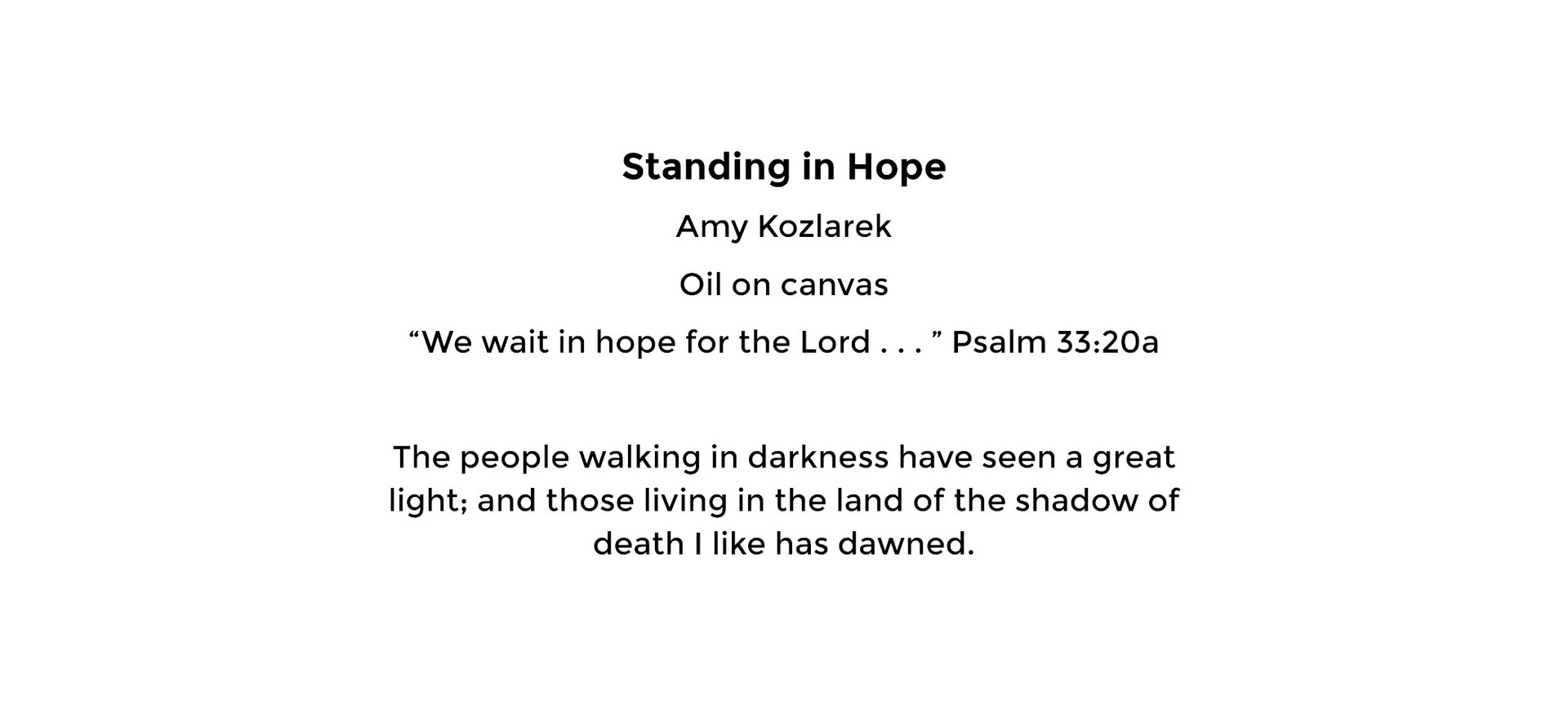 Standing in Hope (card back)