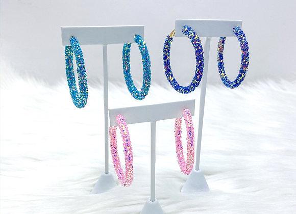 Delilah Glitter Hoop Earrings