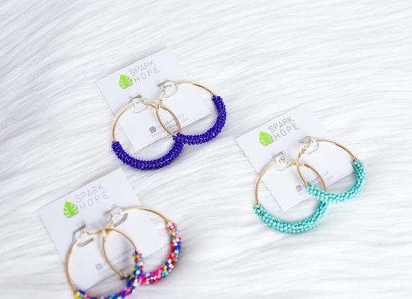 Chelsea Beaded Hoop Earrings