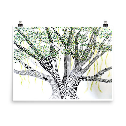 Old Banyan Tree (Middle Section) Print
