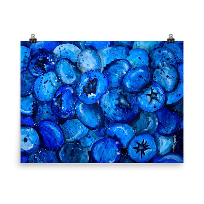 Blue Antioxidant Print