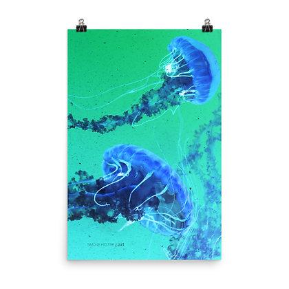 Jellyfishing V In Negative Print