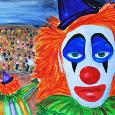 Sad Faced Clown