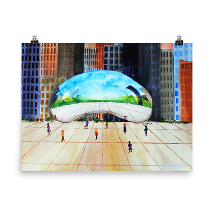 Chicago's Cloudscape Print