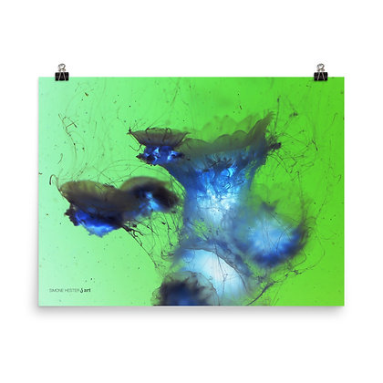 Jellyfishing II In Negative Print