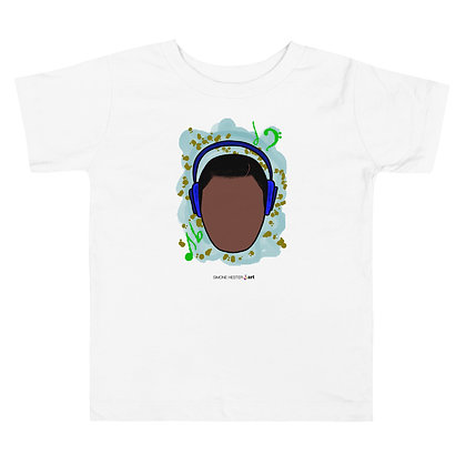 Boy and His Headphones Toddler Tee