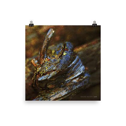 Horned Log Print