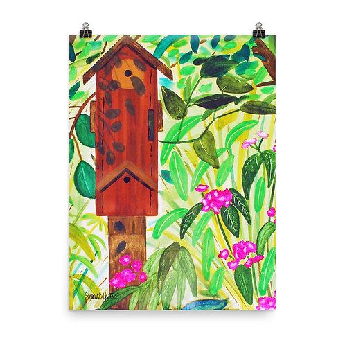 Birdhouse Print