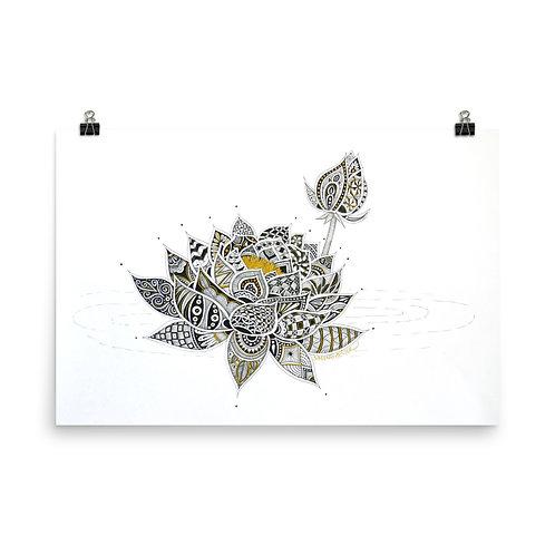 Golden Lotus Print