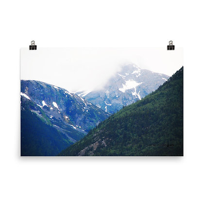 Forest Glacier Mountain Print