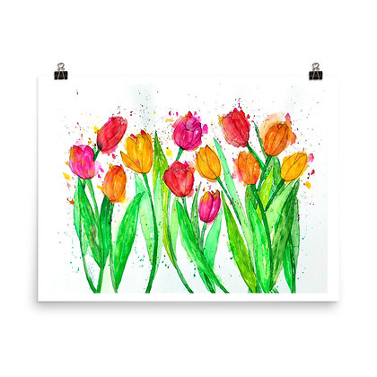 Colorfully Sprung Print
