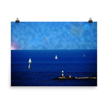 Blue Bliss Print