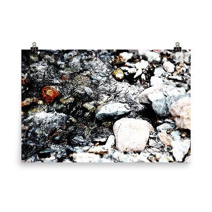 Wet Rock Dry Rock Print