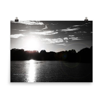 A Lake In Michigan Print