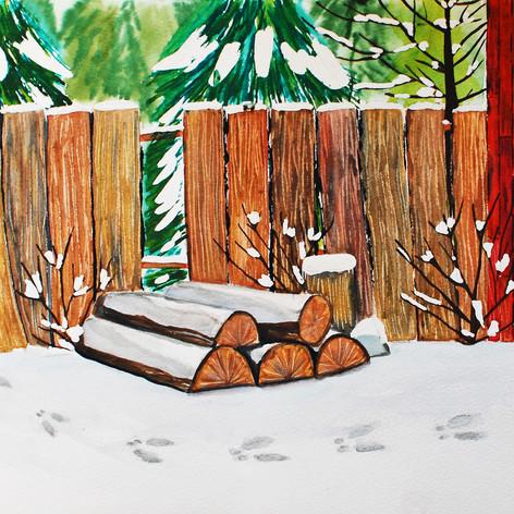 Footsteps In Winter