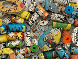 Handmade cartoon paper beads