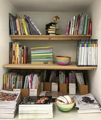 Studio book shelves