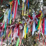 Pilgrims' ribbon offerings