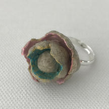 Upcycled paper pulp ring
