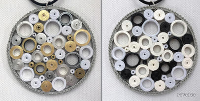Reversible quilling paper pendant