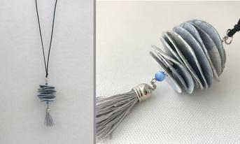 Handmade paper pendant necklace