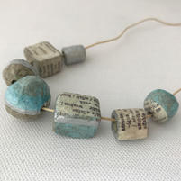 Paper pulp beads necklace