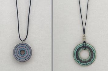 Paper doughnut pendants