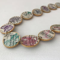 Handmade paper bead necklace