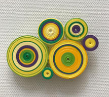 Geometric paper brooch