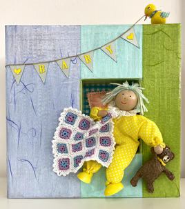 Baby and comfort blanket decor