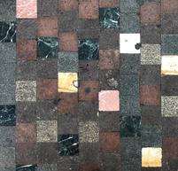 Colourful marble floor
