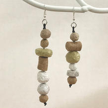 Assymetrical paper beads earrings