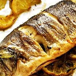 Baked Perch with Sauce: