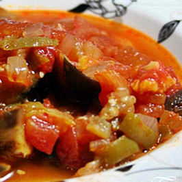 Eggplant dish with Olive Oil