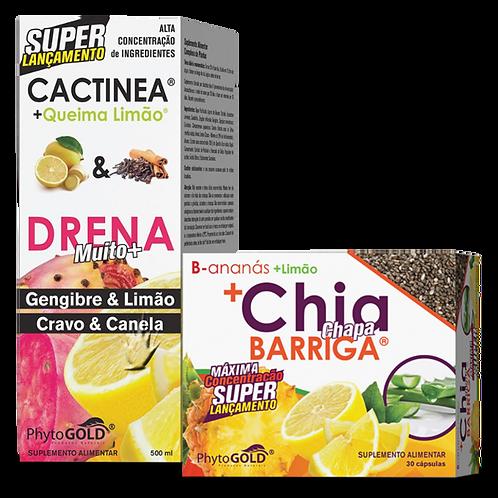 Pack Chia Chapa Barriga com Cactinea + Queima Limão