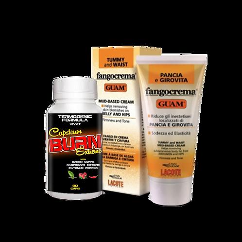 Capsicum Burn Extreme + GUAM Barriga e Coxas