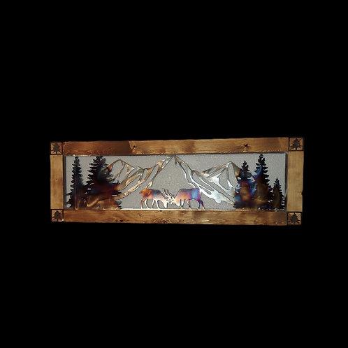 FramedFighting Elk Frame