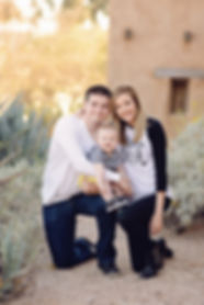 Family pictures at Degrazia in Tucson Arizona