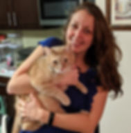 Image of Kim Moscaritolo with her cat Winston