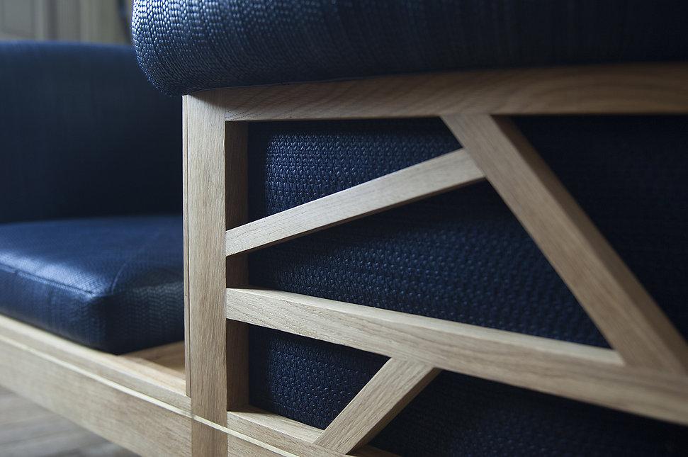 Barley confident Kapara atelier textile Tissage cuir décoration d'intérieur