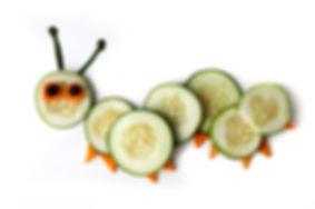 Food art creative concepts. Cute caterpi