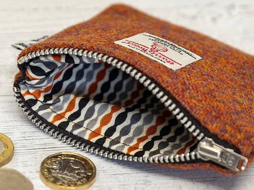 Copper Brown Harris Tweed Purse