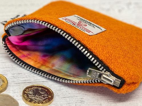 Orange Harris Tweed Coin Purse