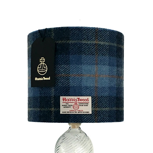 Blue Tartan Harris Tweed Lampshade