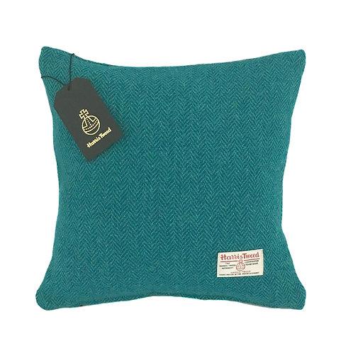 Teal & Turquoise Herringbone Harris Tweed Cushion Cover