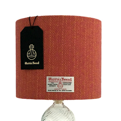 Pink & Yellow Herringbone Harris Tweed Lampshade