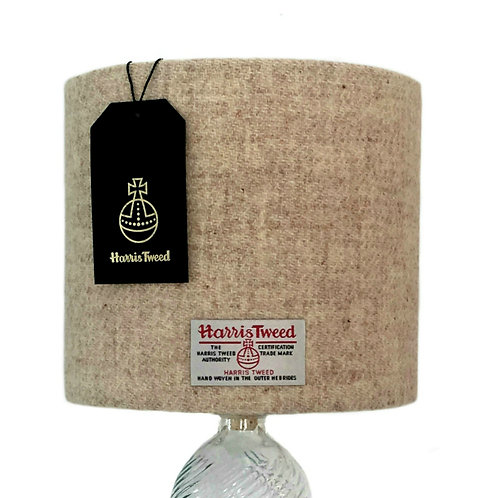 Oatmeal Harris Tweed Lampshade