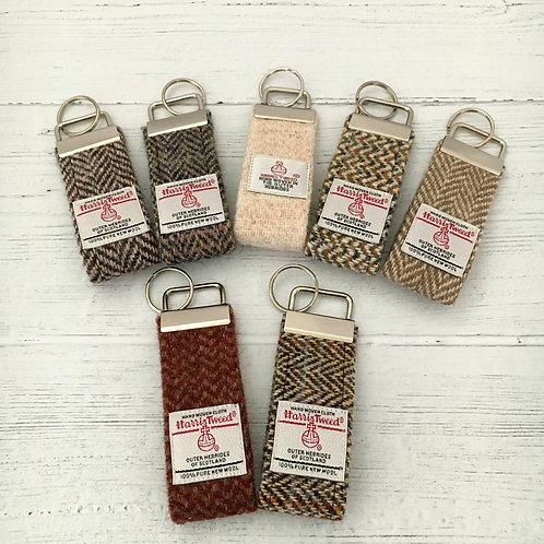 Brown Herringbone Selection - Harris Tweed Keyrings