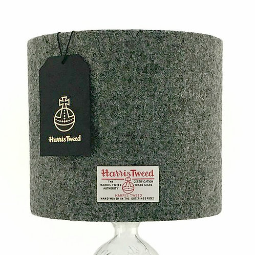 Stone Grey Harris Tweed Lampshade